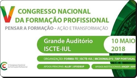 V Congresso Nacional da Formação Profissional (Notícia de Patrocínio)