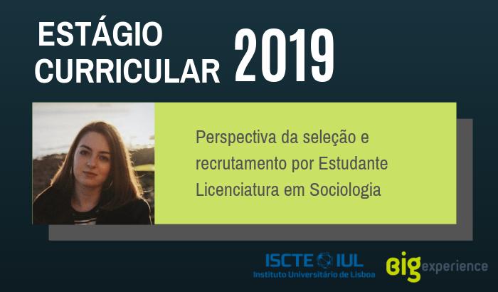 Perspectiva do Recrutamento e Seleção por Estudante Licenciatura em Sociologia