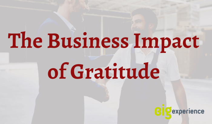 business impact of gratitude